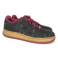 Nike Mens Air Force 1 315180-001 Black Pink Sneaker Casual Shoes Lace Up Size 10