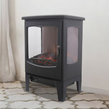 1800W Electric Fireplace Stove Heater Log Burning Flame Effect Living Room