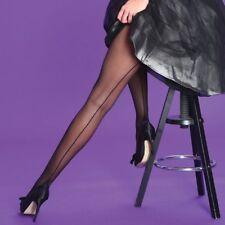 LADIES SEAMER TIGHTS Scarlet by Silky BLACK Seam Size Medium NEW