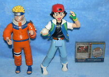 TOY LOT SET OF 3 NARUTO ASH KETCHUM POKEMON WORLD CHAMPIONSHIPS CARDS FIGURES