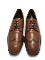 TOD'S MEN'S TAN BROWN LEATHER OXFORDS, 8, $545