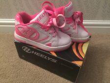 Heelys Propel 2.0 Baskets shoes 1 UK 33 White Pink EX vendeur en boîte