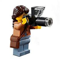 LEGO City Wildlife Photographer Minifigure & Camera Train Scenery 60197 60198
