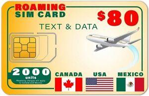 SpeedTalk USA Canada Mexico 5G 4G GSM SIM Card - Rollover 2000 Text Data 1 Year