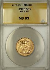 1976 Great Britain Sovereign Gold Coin ANACS MS-63 Choice BU