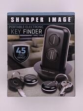 Sharper Image Portable Electronic Key  00006000 Finder 45 Foot Range Black Two Fobs Wirele