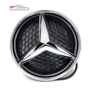 Sport Motors Car Led Front Grille Logo Emblem Light For Mercedes Benz Snap In