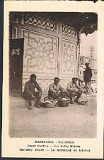 POSTCARD Macedonia Thessaloniki Small Traders Curiosity Dealer c1915 perf