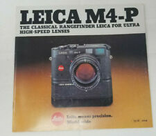 Vintage Leica M4-P Sales Catalog 24 Pages 110-130