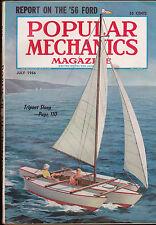 Popular Mechanics Magazine 1956 Ford Tripont Sloop  July 1956 Free US S/H
