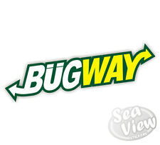 2 x Bugway Bug Way Subway Car Stickers Decal Funny Sticker Slogan Ratlock VW