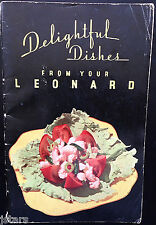 1930s LEONARD REFRIGERATOR OWNER'S COOKBOOK, DETROIT, MI