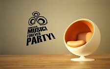 Wall Stickers Vinyl Decal Forever Music Forever Party Youth ig1544