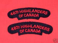 48TH HIGHLANDERS OF CANADA Cloth Shoulder Flashes
