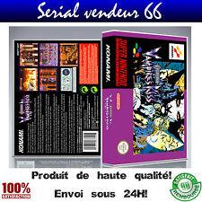 "Boitier du jeu ""CASTLEVANIA VAMPIRE'S KISS"", super nintendo, visuel PAL FR. HD"