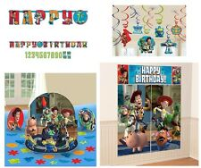 Toy Story Birthday Party Pack (Banner, Wall Poster, Swirls & Table Decor Kit)~