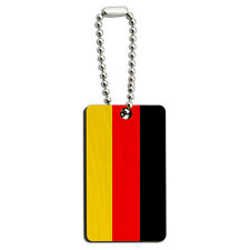Germany Flag Wood Wooden Rectangle Key Chain