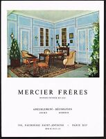1957 Vintage Mercier Freres Antique Art Furniture Decor Photo Print Ad