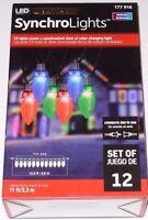 Gemmy LED Lightshow C9 Light String MULTICOLOR Synchro Lights NEW