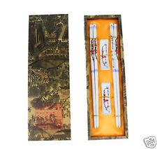 New 2Pairs Chinese Handmade Vintage Porcelain Chopsticks And Brackets Gift Set