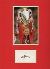 More details for signed nicky butt autographed mounted card photo manchester united england