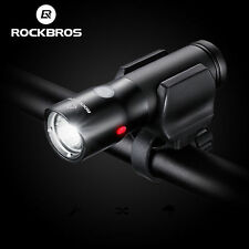 RockBros Cycling Black USB Rechargeable Bike Front Light Headlight Flashlight