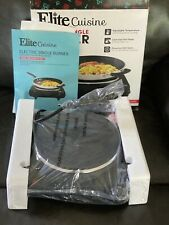 Portable electric stove single burner travel compact small hot plate black