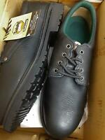 *DAMAGED Safety Zone Footwear Oxford S/T, Black, SZ6006, Size 14 W