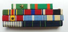 New listing U.S. Navy Military Naval Officer 11 Ribbon Commendation Rack Bar Pin Badge Stars