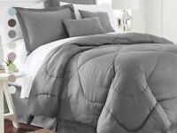 6 Piece Set: Chevron Embossed Comforter Set - 8 Colors