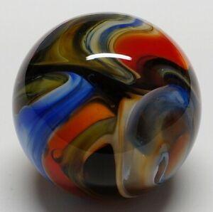 "Winlock Marbles ~ Handmade Glass Marbles ~ Lampwork Art Marble ~ 57/64"""