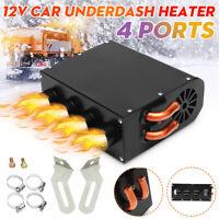 12V 4 Ports Car Underdash Universal Compact Heater Demister Warm + Speed