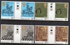 GB 1976 British Printing traffic light gutter pairs MNH Unfolded stamps. Caxton