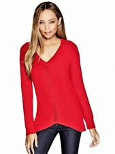 GUESS IVANIA SWEATER Red Thick & Warm Pullover Jumper Tunic Size M NWT