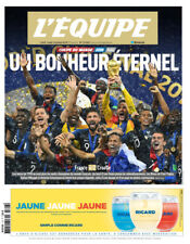 Journal l'Equipe du 16 juillet 2018 - Un bonheur éternel - coupe du monde 2018