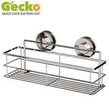 Cestas, estantes y bandejas de baño color principal plata de acero inoxidable