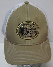 KAW VALLEY RODEO Manhattan Kansas COWBOY ADVERTISING Snapback Trucker Hat Cap