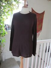 Ladies River Island Maroon Jumper Top With Shaped Hem Size S New.