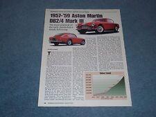 1957-'59 Aston Martin DB2/4 Mark III Info Article