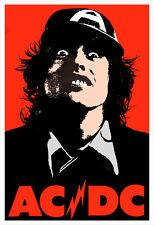 AC/DC 1976 Tour Poster print