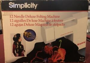 Brand new in box Simplicity 12 needle deluxe Felting machine. Still wrapped up
