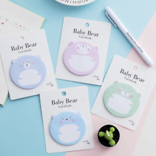 Cute Bear Memo StickerBookmark Post IT Marker Flags Point Index Tab Sticky Notes