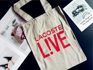 Modern La coste Live 100% Cotton ECO Canvas Messenger Shoulder Shopping Bag Rare