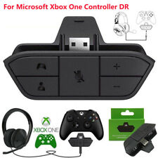 For Xbox One Controller Stereo Headset 3.5mm Audio Adapter Enables Mic Chat Game