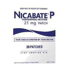 ツ NICABATE P 21MG PATCH 28 PACK STOP SMOKING AID 24 HOUR RELEASE NICOTINE