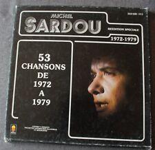 Michel Sardou, 53 chansons de 1972 à 1979 - best of, coffret 4 LP - 33 tours