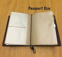 Passport Size PVC Credit Card Holder Refill for Midori Travelers Notebook