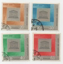 1966 Laos 20th Anniversary of Unesco Scott 133-36 CTO OG