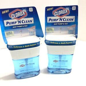 Pump 'N Clean Bathroom RefillsLot of 2 Rain Clean 12 oz each Toilet Sink Mirror