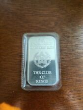 Engelhard The Club Of Kings 1oz silver bar - Sealed - Serial #412341